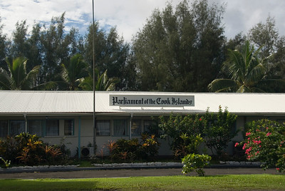 Cook Islands Parliment Building in Rarotonga, Cook Islands
