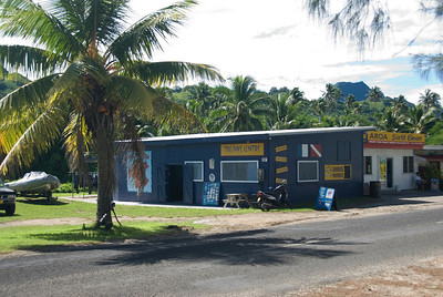 Dive Center and scooter in Rarotonga, Cook Islands