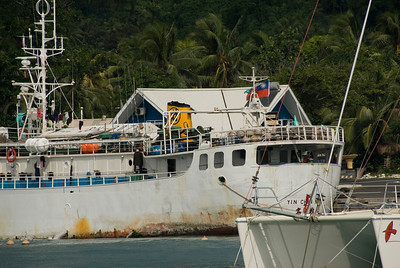 Taiwaneese Fishing boat in Rarotonga, Cook Islands