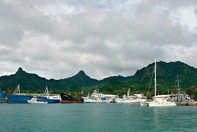 Harbor at Rarotonga, Cook Islands