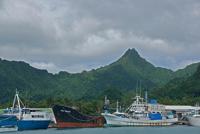 Rarotonga Harbor in Cook Islands