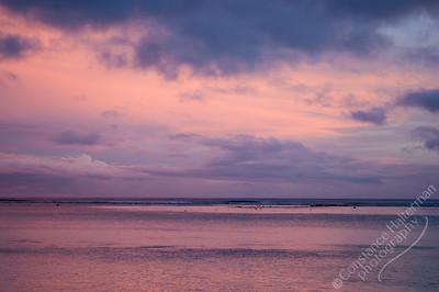Rarotonga - pink sunset