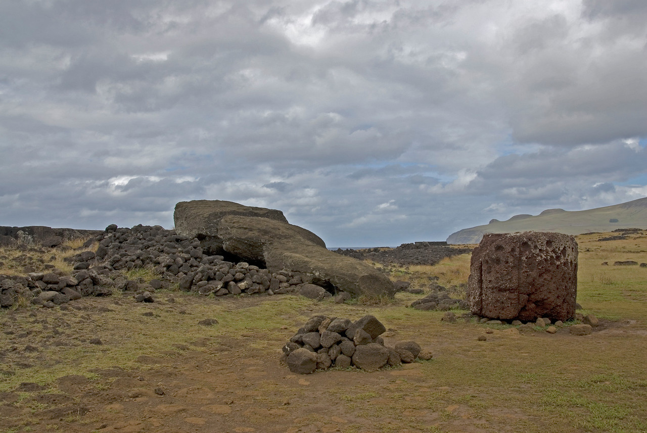 Toppled Maoi - Easter Island