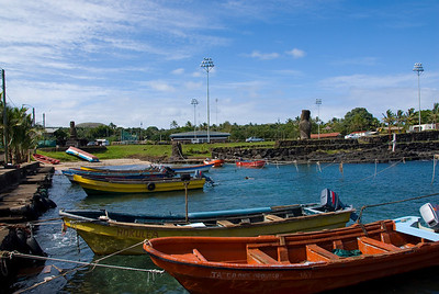 Harbor in Easter Island