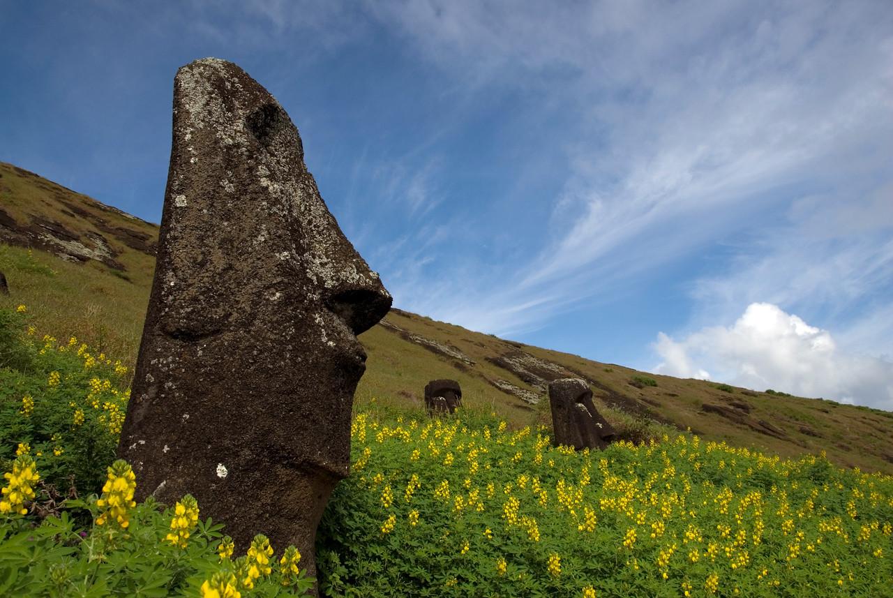 Maoi at Rano Raraku crater - Easter Island