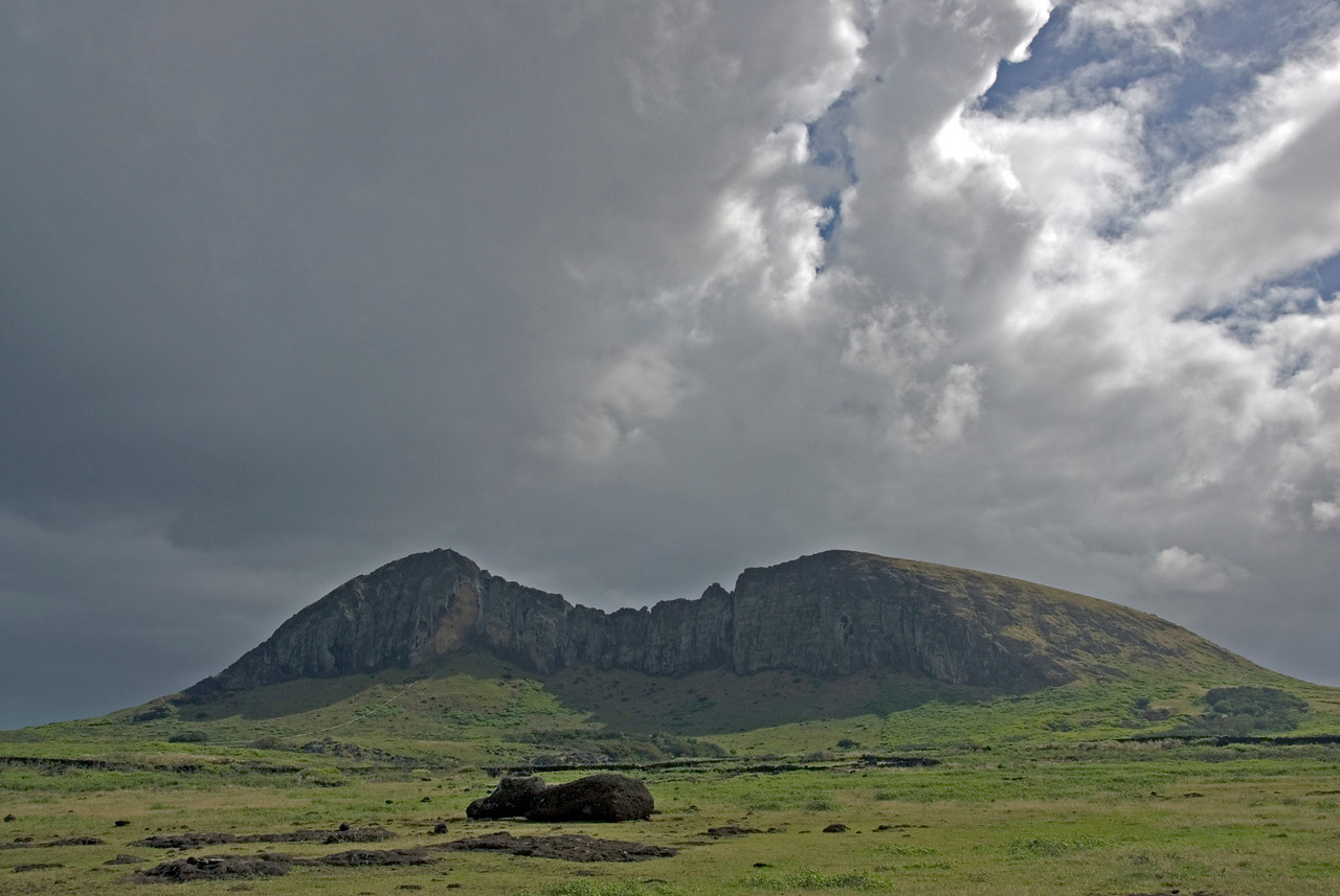 Maoi and quarry - Easter Island