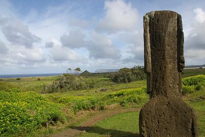 Back of Moai on Easter Island