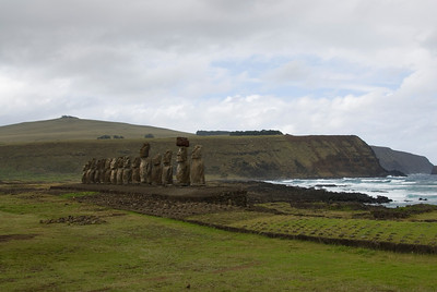 Restored Maoi in Easter Island