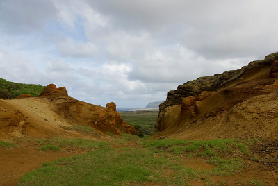 Landscape in Easter Island