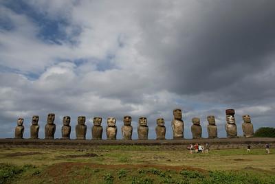 Restored Maoi in Rapa Nui - Easter Island