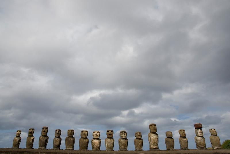 Moai at Ahu Tongariki, Easter Island