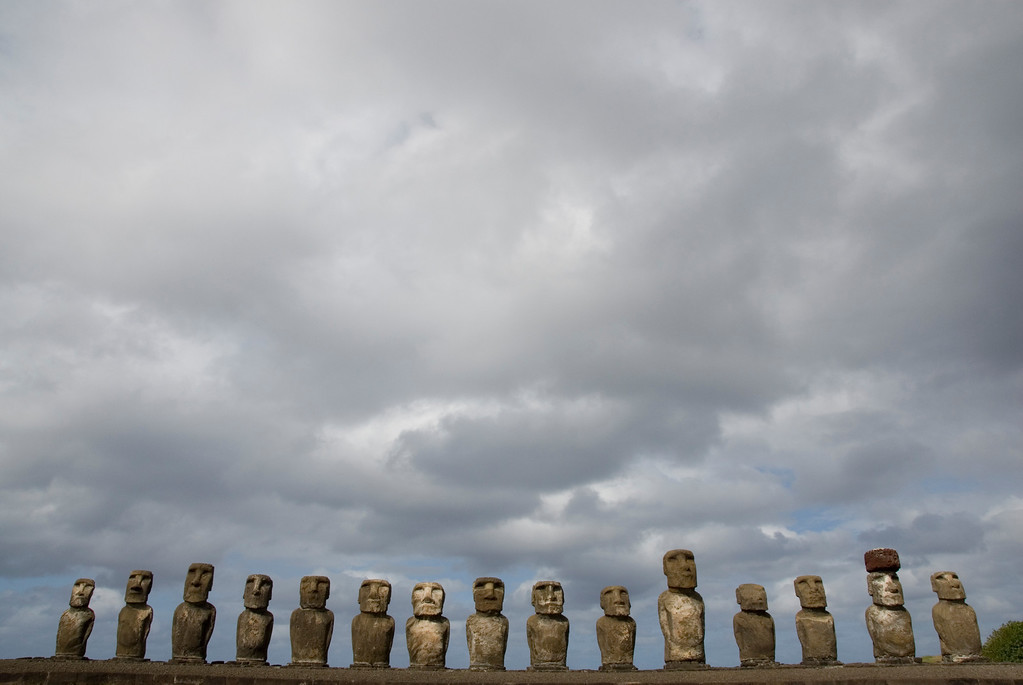 Early inhabitants living on Easter Island left behind clues.