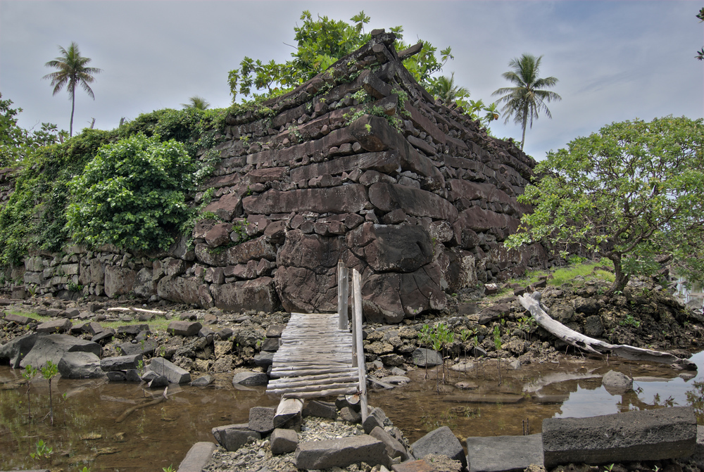 The ruins of Nan Modal, Pohnpei, Micronesia