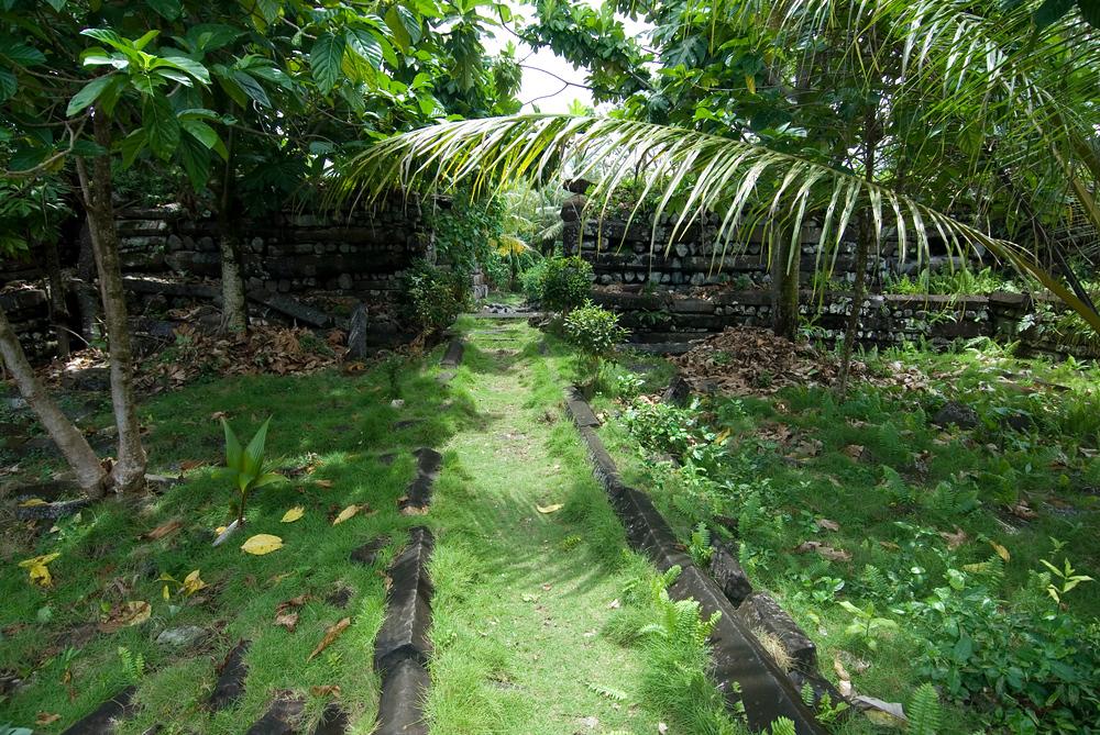 Inside a tomb in Nan Modal, Pohnpei, Micronesia
