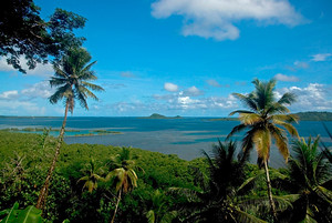 The view from the Village Inn in Pohnpei, Micronesia