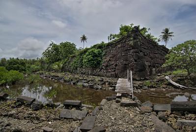Nan Modal Wall at angle 2 HDR - Pohnpei, FSM