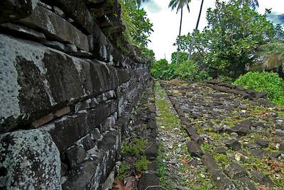 Nan Modal Outside Walls in Pohnpei, Micronesia