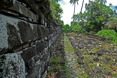 Nan Modal Outside Walls in Pohnpei, Micronesia