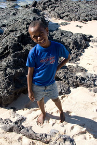 Fijian boy from the island of Waya
