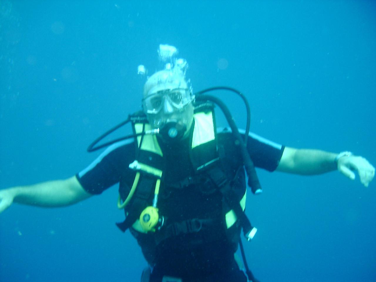 Me Diving in Fiji