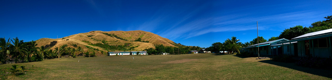 Panorama: Village and School Rugby Field