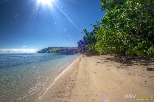 Pristine beach in Tivua