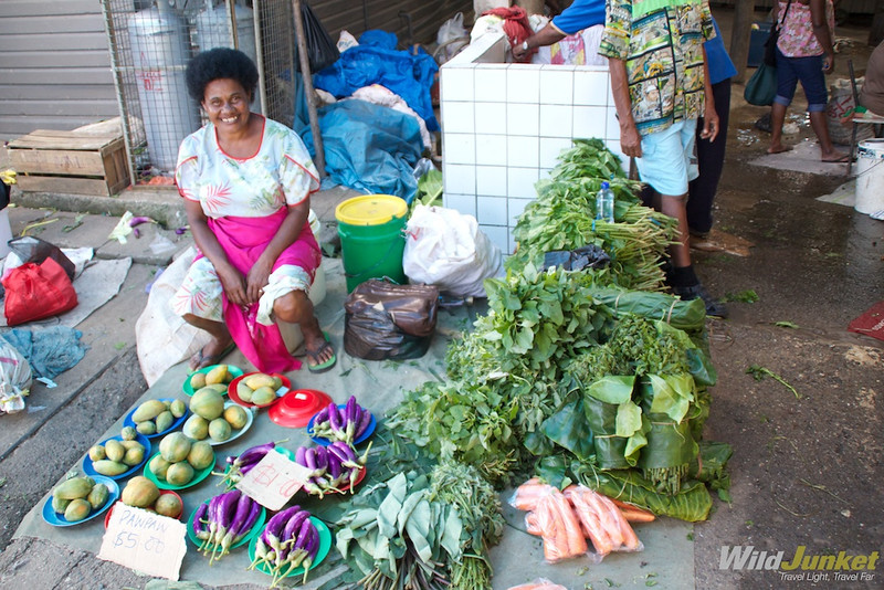 Lady selling plantains