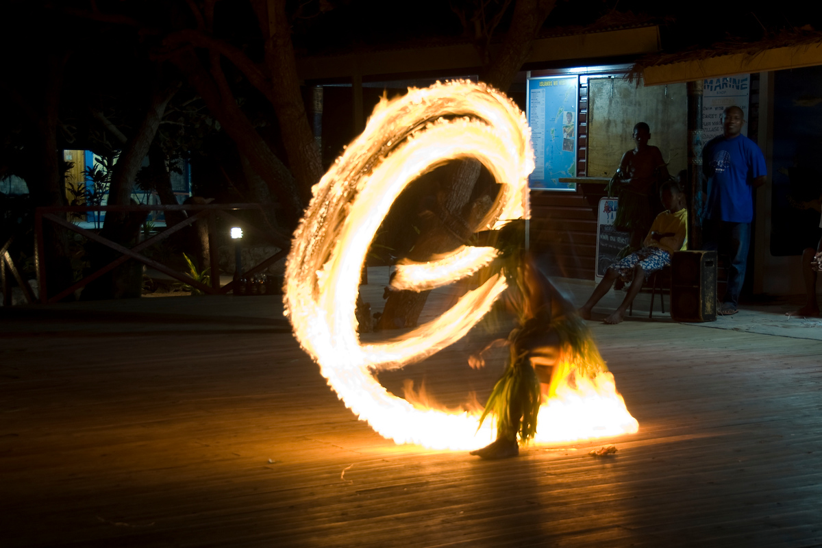 Fire dancing in the Yasawa Islands in Fiji