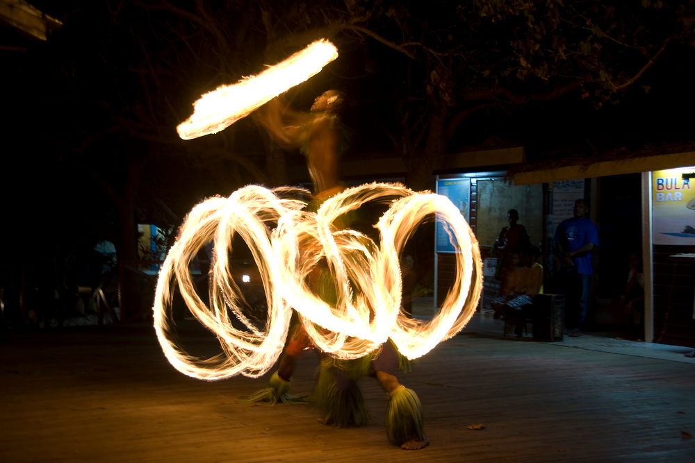 Fire dancing in the Yasawa Islands, Fiji