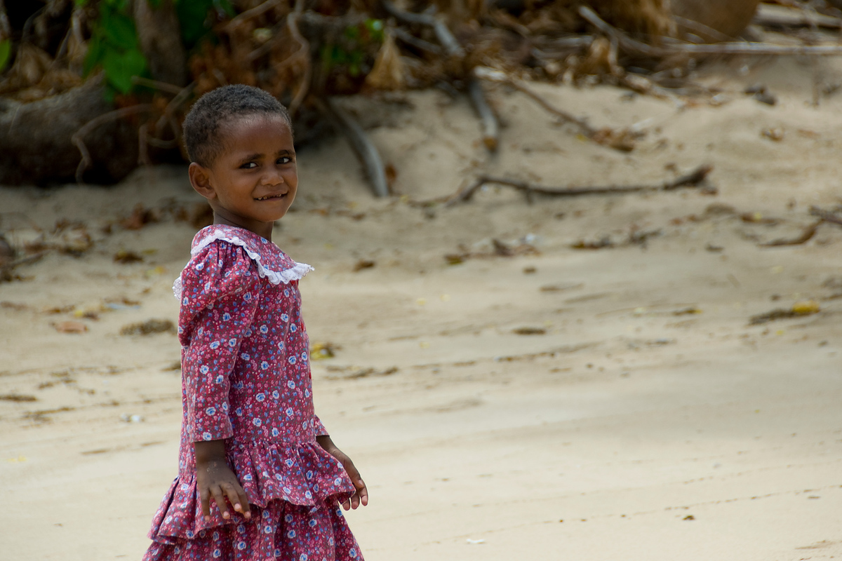 Girl Going To Church on the Island of Waya, Fiji