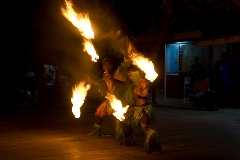 Fire dancers in Yasawa Islands, Fiji