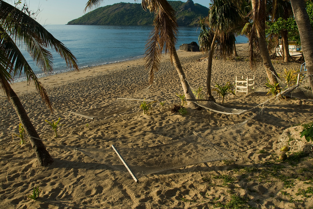 Hammocks on the beach - Yasawa Islands, Fiji