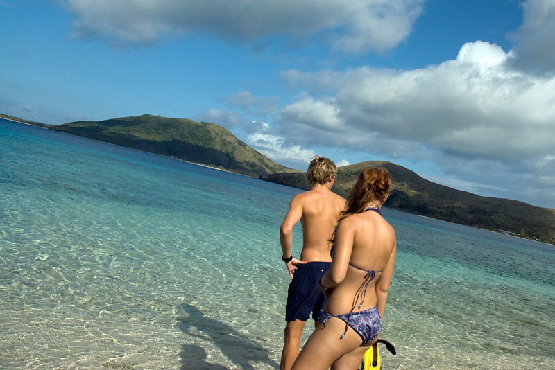 Tourists in Yasawa Islands, Fiji