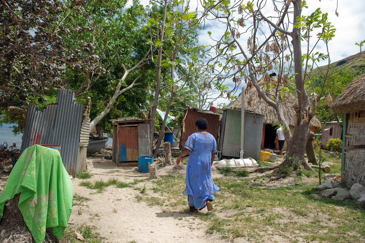 Local neighborhood in Yasawa Islands, Fiji