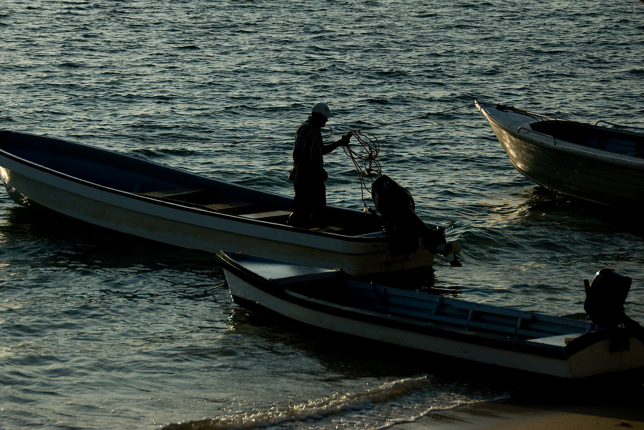 Man on fishing boat - Yasawa Islands, Fiji