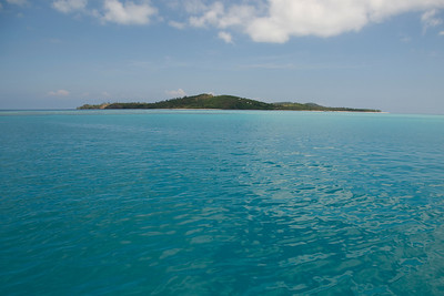 View of island from sea - Yasawa Island, Fiji