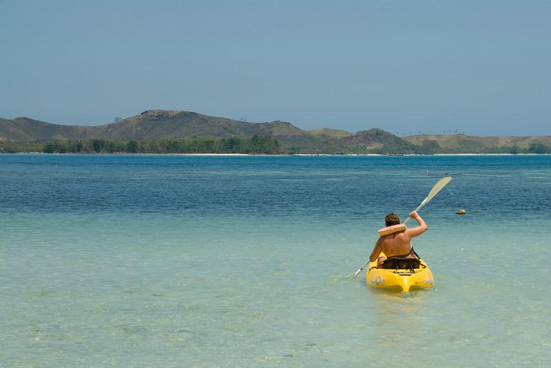 Kayaking in Yasawa Islands, Fiji