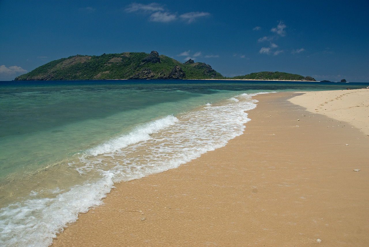 The beach on Yasawa Islands, Fiji