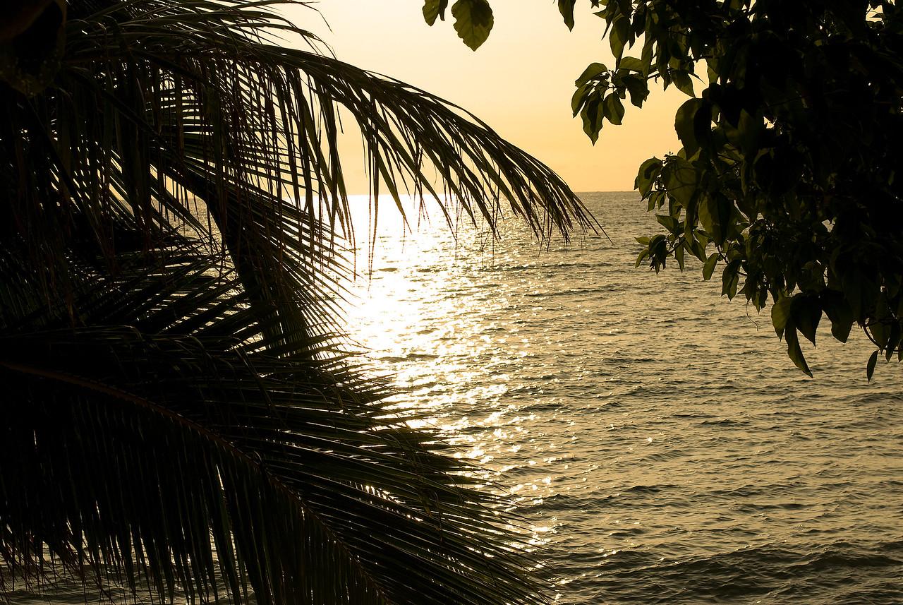 Sunbeam glistening over sea surface - Yasawa Islands, Fiji