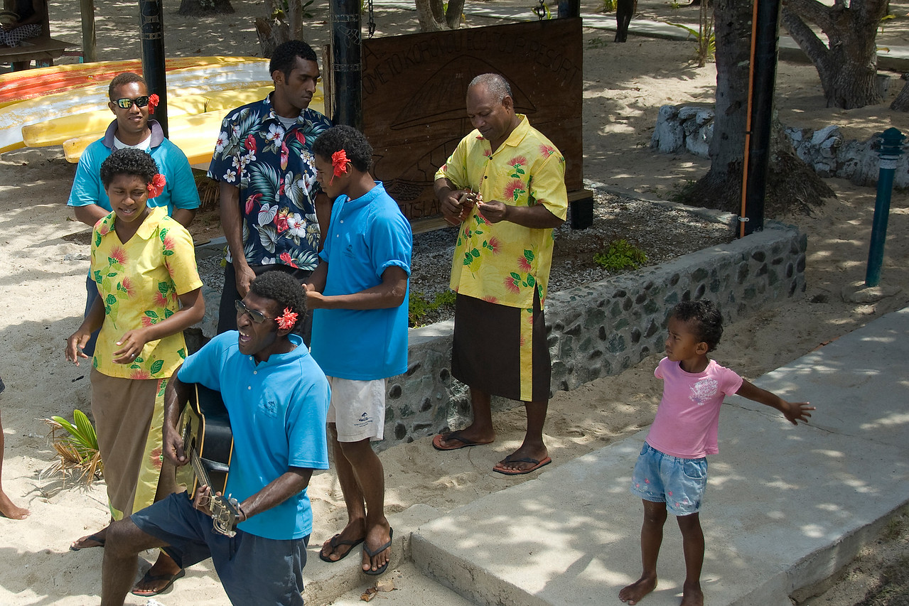 Locals performing in Yasawa Islands, Fiji