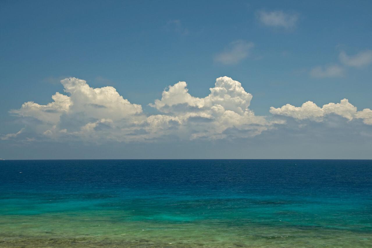 Seascape and clouds in Yasawa Islands, Fiji