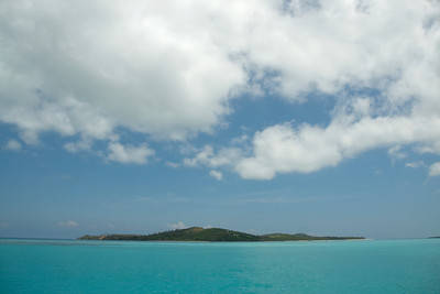 View of an island from beach - Yasawa Islands, Fiji