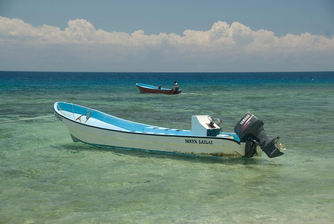 An empty boat in Yasawa Islands, Fiji