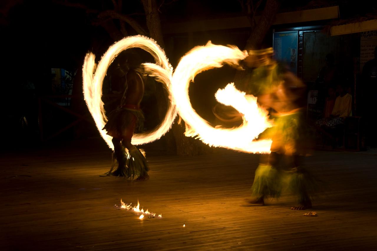 Fire dancers in Yasawa Islands, Fiji