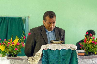 Priest in Yasawa Islands, Fiji