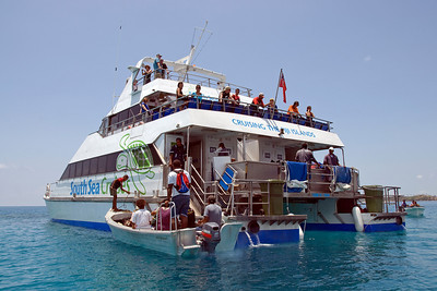 Ferry boat in Yasawa Islands, Fiji