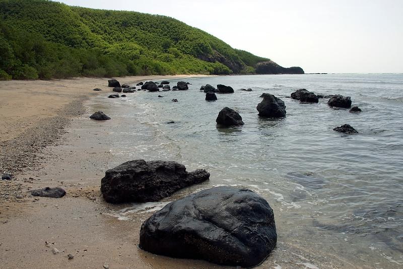 Huge boulders on beach - Yasawa Islands, Fiji