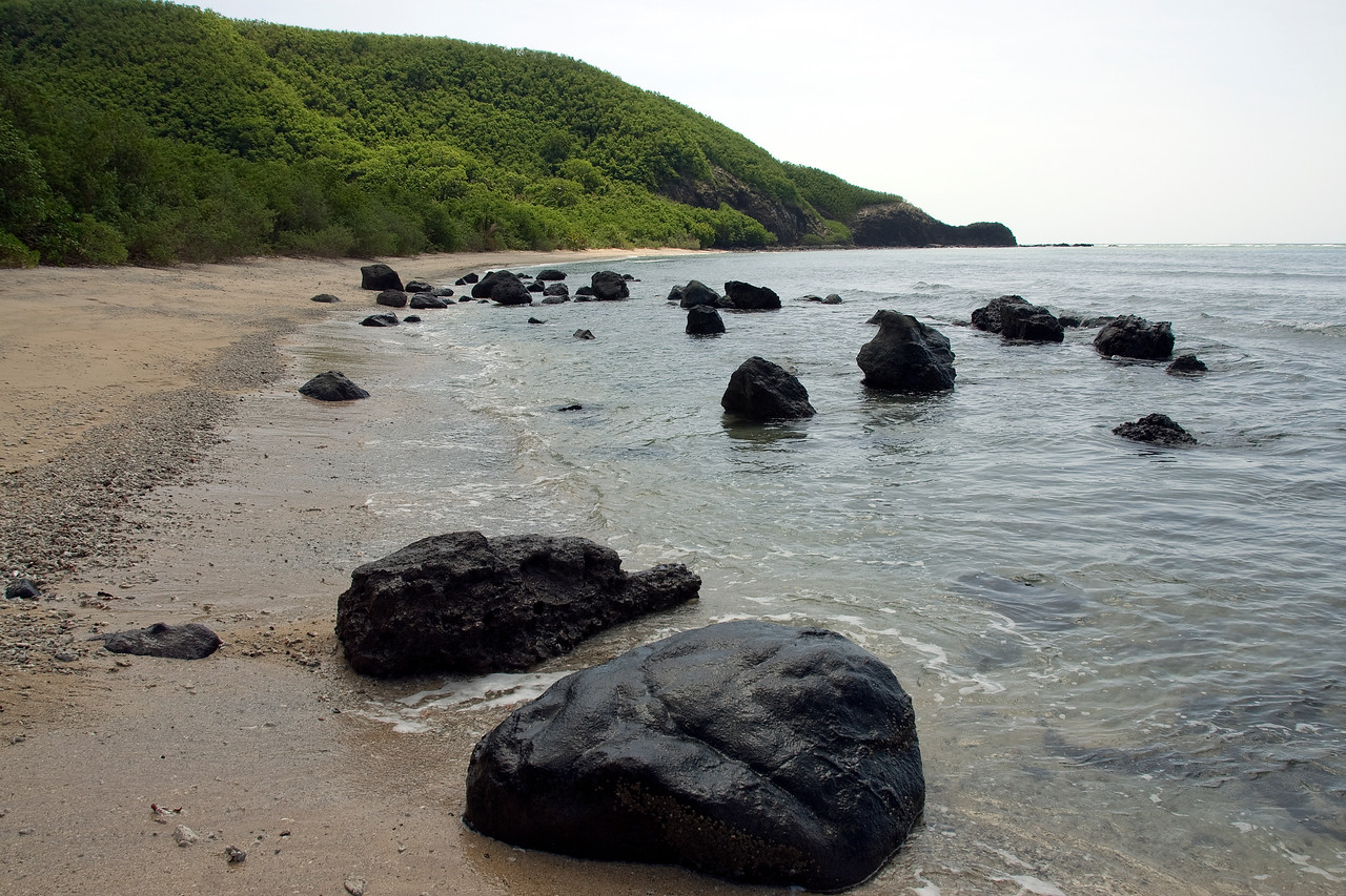 Huge boulders on beach - Yasawa Islands, Fiji