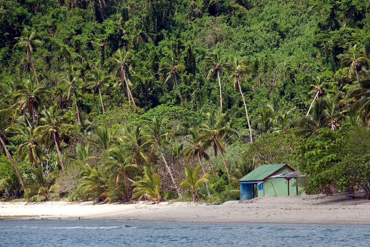 View of the beach in Yasawa Islands, Fiji