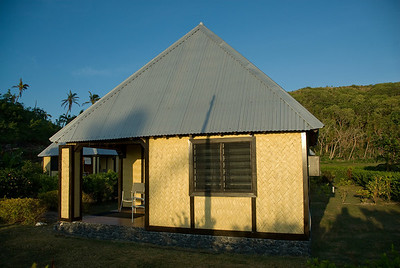 Tropical resort hut in Yasawa Islands, Fiji